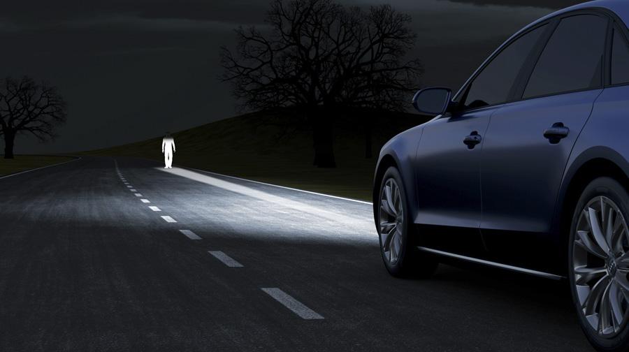 audi matrix led 1 Công nghệ đèn pha LED ma trận trên Audi A8L mới