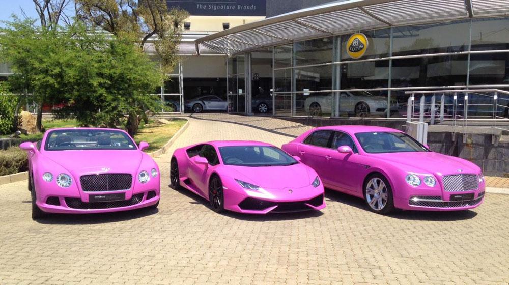 Bộ 3 xe màu hồng