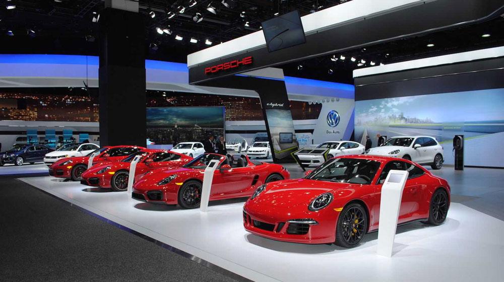 """""""Ngó"""" không gian Porsche tại Detroit Motor Show 2015"""