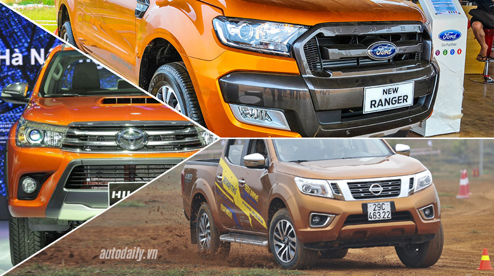 Mua Toyota Hilux, Ford Ranger hay Nissan Navara?