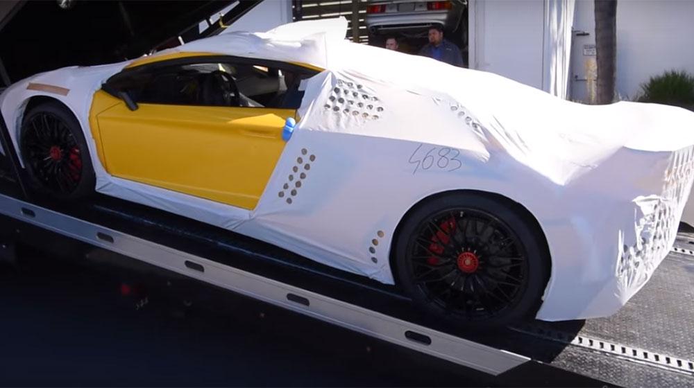 Xem quá trình bàn giao siêu phẩm Lamborghini Aventador SV